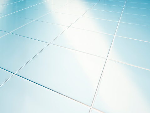 Corner「Clean white tiled floor in bathroom」:スマホ壁紙(10)