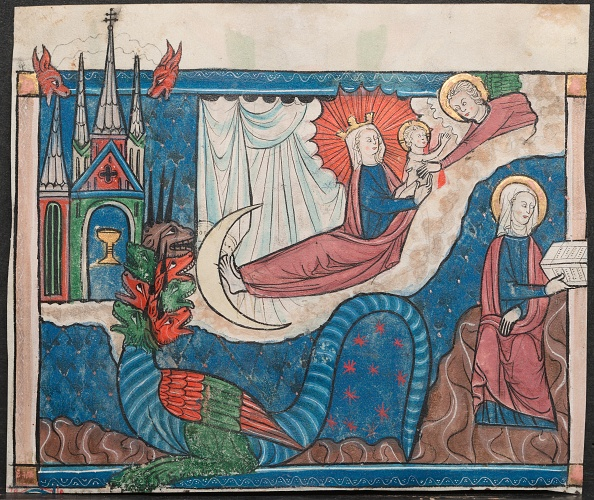 Tempera Painting「Miniature From A Manuscript Of The Apocalypse: The Woman Clothed With The Sun?」:写真・画像(18)[壁紙.com]