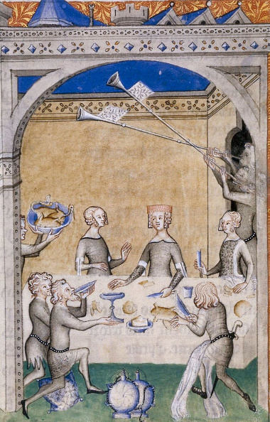 Medieval「Miniature From Le Remede De Fortune By Guillaume De Machaut Feast Scene」:写真・画像(11)[壁紙.com]