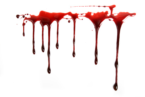 Drop「Realistic Blood Dripping on White Background」:スマホ壁紙(2)