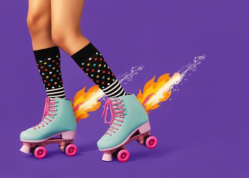 Shoe「Roller Skates on Fire」:スマホ壁紙(18)