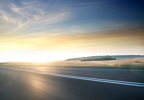 Orange Color「Fast moving road in motion」:スマホ壁紙(12)