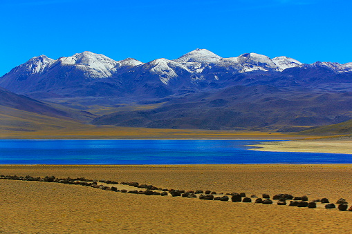 Andean Highlands「Lagunas Miñiques and Miscanti - Lakes and snowcapped Volcanoes mountains - Turquoise lakes and Idyllic Atacama Desert, Volcanic landscape panorama – San Pedro de Atacama, Chile, Bolívia and Argentina border」:スマホ壁紙(16)