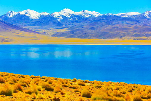 Andean Highlands「Lagunas Miñiques and Miscanti - Lakes and snowcapped Volcanoes mountains - Turquoise lakes and Idyllic Atacama Desert, Volcanic landscape panorama – San Pedro de Atacama, Chile, Bolívia and Argentina border」:スマホ壁紙(15)