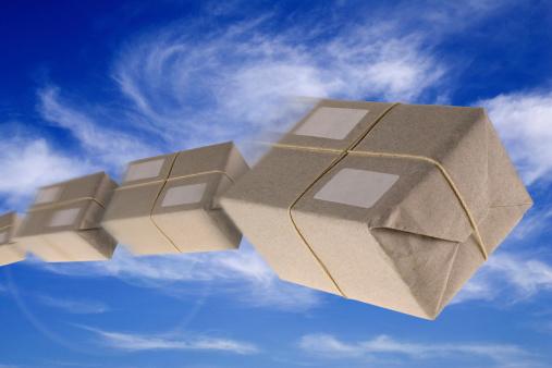Online Shopping「Flying Boxes - Mail Order」:スマホ壁紙(4)