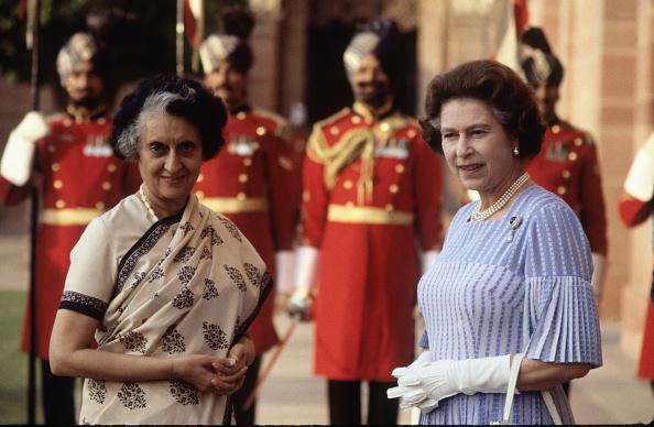 Delhi「Queen Elizabeth II meets Mrs. Indira Gandhi at Hyderabad House」:写真・画像(2)[壁紙.com]