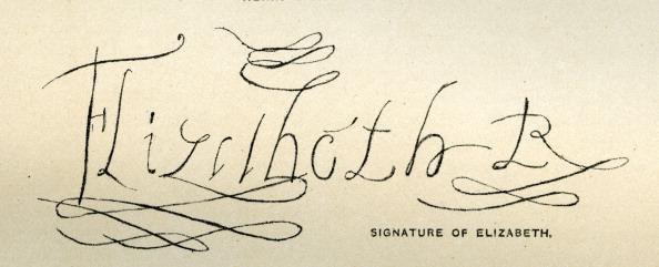 Writing「Queen Elizabeth I's signature」:写真・画像(0)[壁紙.com]