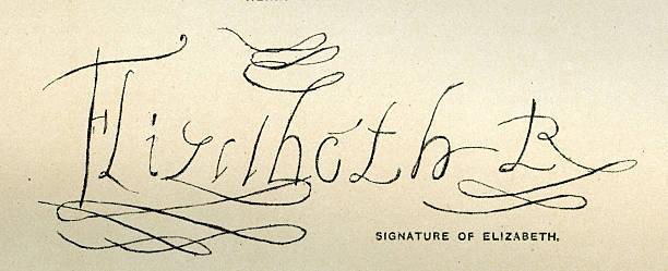 Queen Elizabeth I's signature:ニュース(壁紙.com)