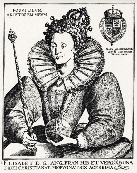 Engraving「Queen Elizabeth I - portrait from an engraving by Crispin de Passe, 1592 - Queen of England and Ireland, 17 November 1558 - death」:写真・画像(6)[壁紙.com]