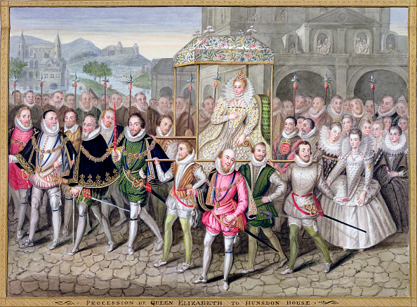 Elizabethan Style「Queen Elizabeth I In Procession With Her Courtiers circa 1600-1603 (1825)」:写真・画像(3)[壁紙.com]