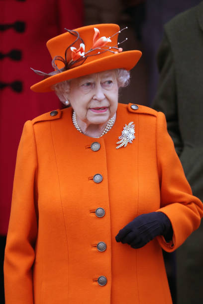 Orange Color「Members Of The Royal Family Attend St Mary Magdalene Church In Sandringham」:写真・画像(1)[壁紙.com]