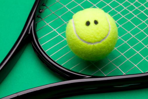 スマイルマーク「笑顔テニスボール」:スマホ壁紙(19)