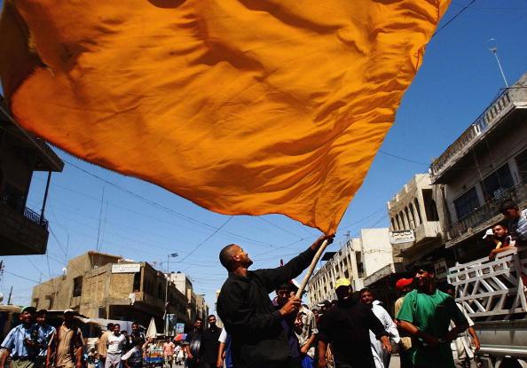 Orange Color「Sadr Supporters Protest Bush Visit in Baghdad」:写真・画像(3)[壁紙.com]