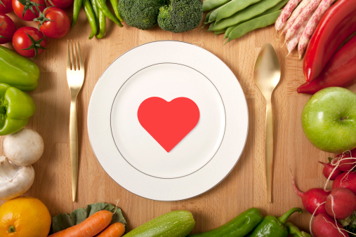 Valentine's Day - Holiday「plate, fork, knife and red heart」:スマホ壁紙(5)