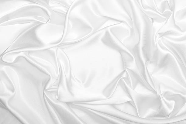 White satin silk wrinkled background:スマホ壁紙(壁紙.com)