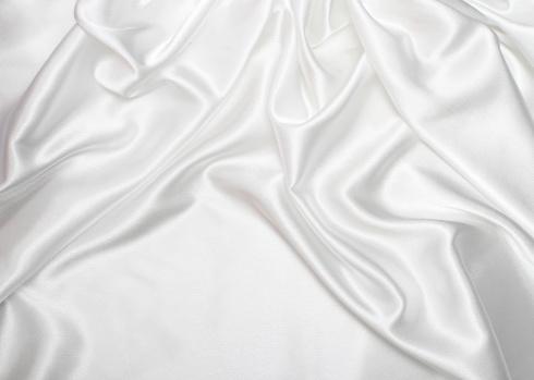 Wrinkled「White satin silk background」:スマホ壁紙(19)