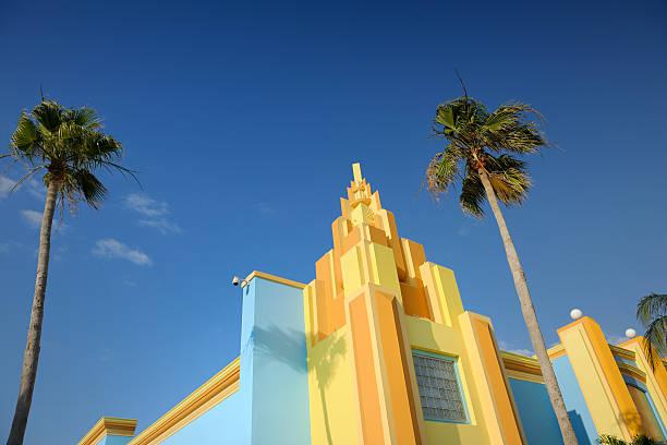 カラフルなペイントされたアールデコ調の家にフロリダ州マイアミ):スマホ壁紙(壁紙.com)