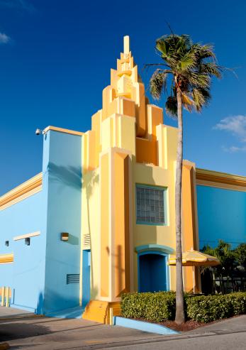 Miami Beach「カラフルなペイントされたアールデコ調のハウスフロリダ州」:スマホ壁紙(15)