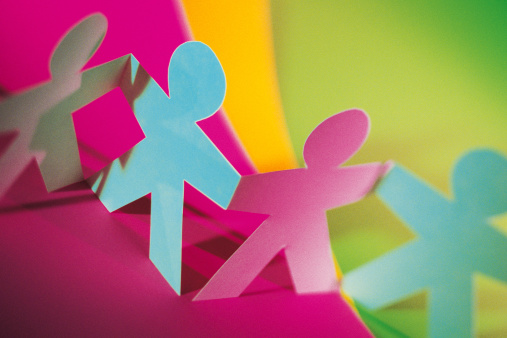Rainbow「Colorful paper dolls」:スマホ壁紙(14)