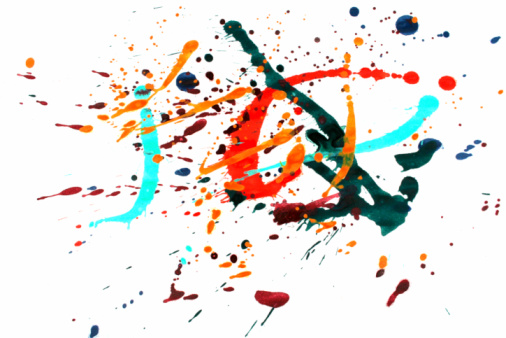 Rock Music「Colorful paint splash」:スマホ壁紙(13)