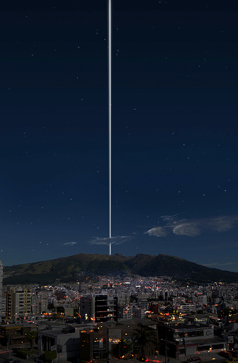 star sky「Artists concept of a hypothetical ringed Earth as seen from Quito, Ecuador.」:スマホ壁紙(14)