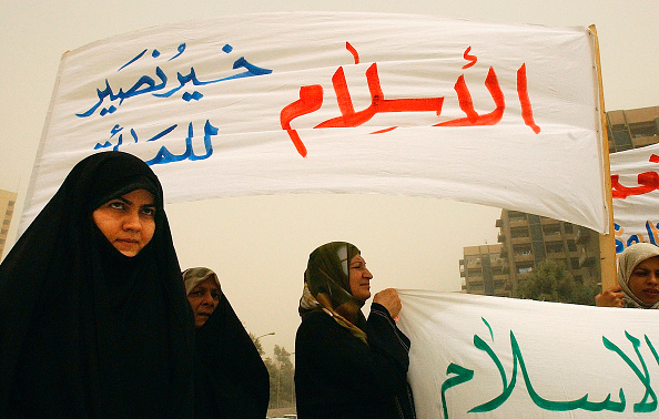 Baghdad「Iraqi Women Protest Over Rights In Baghdad」:写真・画像(16)[壁紙.com]