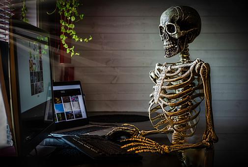 Internet「Human skeleton at office」:スマホ壁紙(11)