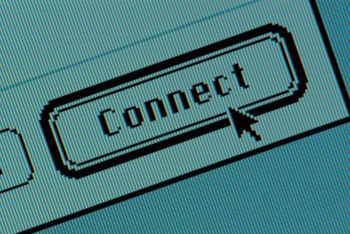 1990-1999「Connect button on computer screen」:スマホ壁紙(4)