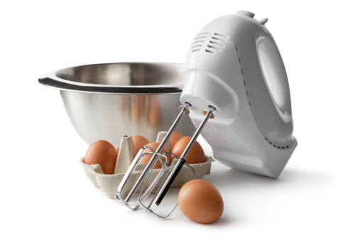 Bowl「Baking Ingredients: Bowl, Electric Mixer and Eggs」:スマホ壁紙(15)