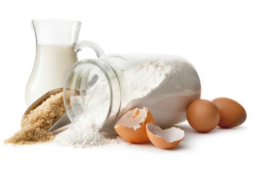 Bakery「Baking Ingredients: Eggs, Sugar, Flour and Milk」:スマホ壁紙(14)
