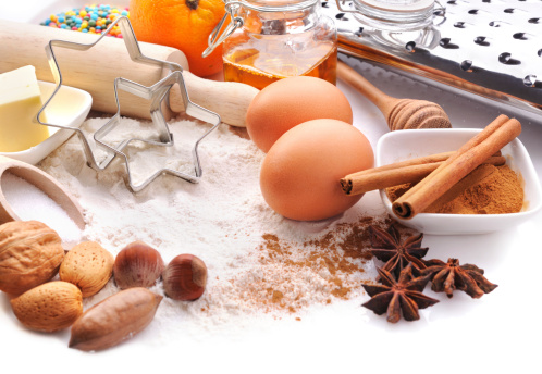 Star Anise「Baking ingredients with copy space」:スマホ壁紙(1)