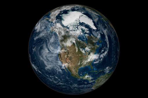 北極「Full Earth view showing North America.」:スマホ壁紙(16)