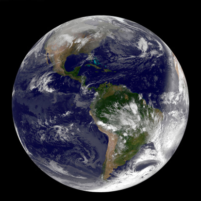 Solar System「Full Earth showing North and South America on December 31, 2010」:スマホ壁紙(9)