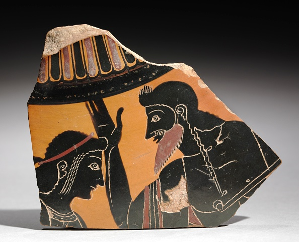 Earthenware「Fragment Of A Painted Vase: Apollo And Zeus」:写真・画像(3)[壁紙.com]