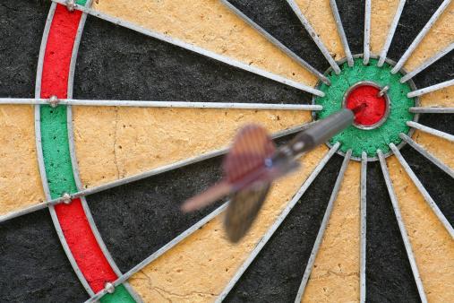 Sports Target「Fragment of a dartboard with dart inside the bull's eye」:スマホ壁紙(18)