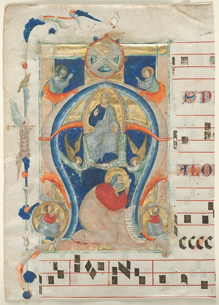 Manuscript「Fragment Of An Antiphonary With Historiated Initial (A): Christ In Majesty」:写真・画像(12)[壁紙.com]