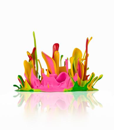 Springtime「Paint Flower」:スマホ壁紙(7)