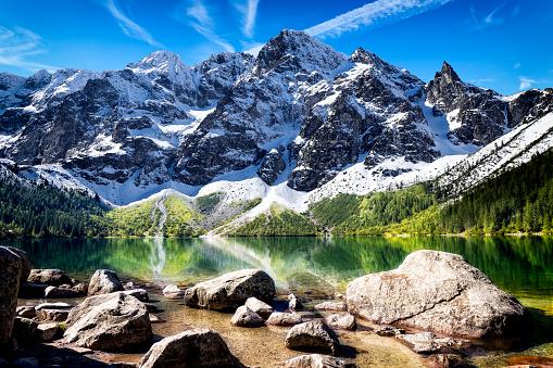 リゾート「、ポーランドのタトラ山脈でモルスキエ oko 湖」:スマホ壁紙(11)