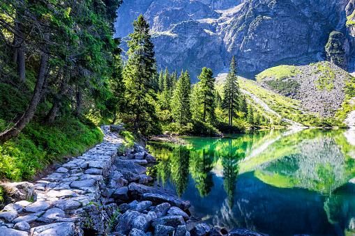 Tatra Mountains「Morskie oko lake in Tatra Mountains, Poland」:スマホ壁紙(16)