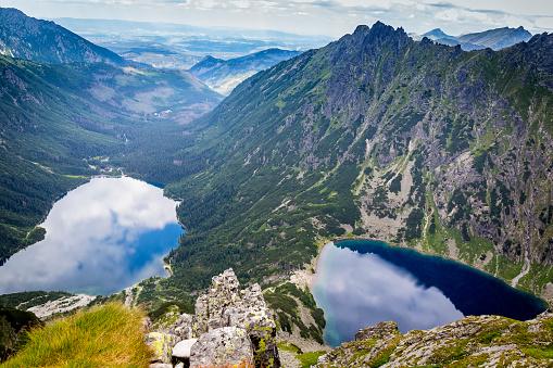 Tatra Mountains「Morskie oko lake and black pond in Tatra Mountains, Poland」:スマホ壁紙(18)