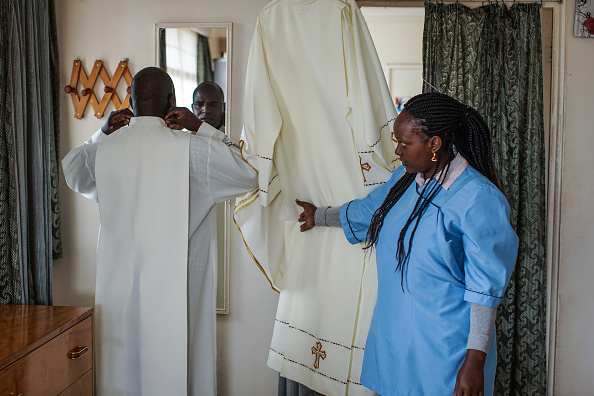 Nichole Sobecki「Final Preparations Are Made For The Arrival Of Pope Francis To Kenya」:写真・画像(1)[壁紙.com]