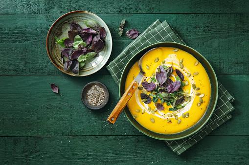 Comfort Food「Vegan Creamy Roasted Pumpkin Soup」:スマホ壁紙(15)