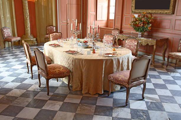 Table Set in Villandry Castle:スマホ壁紙(壁紙.com)