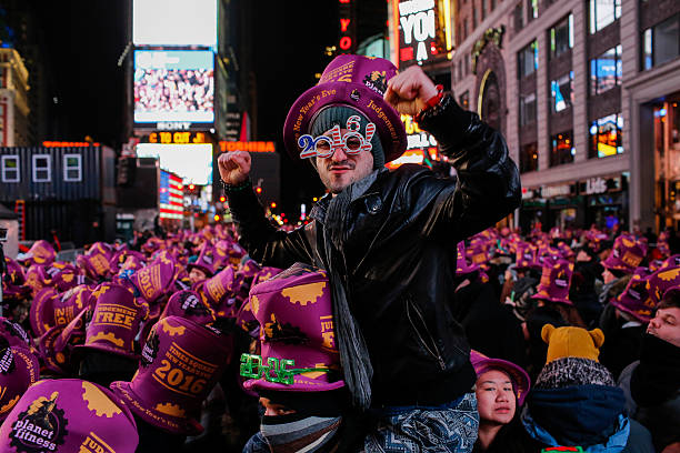 New York's Times Square Hosts Annual New Year's Eve Celebration:ニュース(壁紙.com)