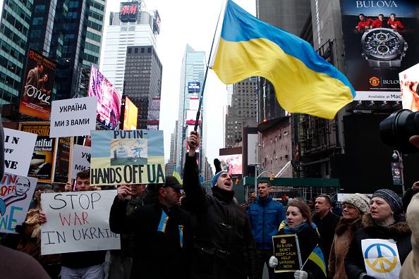 Russian Military「Demonstration Held In New York Against Russia's Recent Moves Against Ukraine」:写真・画像(7)[壁紙.com]