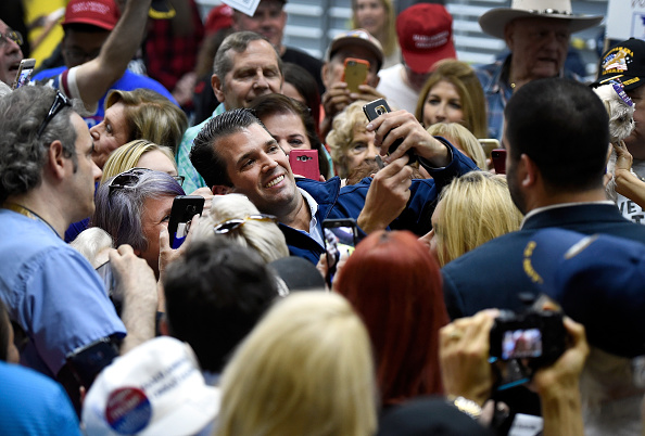 Photography Themes「Donald Trump Jr. Campaigns For HIs Father In Las Vegas」:写真・画像(3)[壁紙.com]