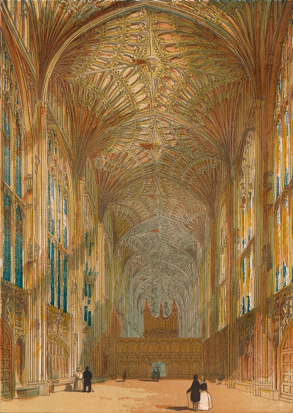 Ceiling「'King's College Chapel, Cambridge', 1864」:写真・画像(19)[壁紙.com]