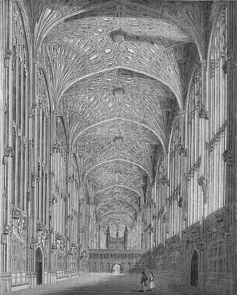 Ceiling「'King's College Chapel', 1845」:写真・画像(14)[壁紙.com]