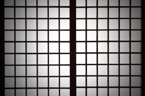 和柄「スポットライトで Shoji (日本語)の背景紙製間仕切り」:スマホ壁紙(11)