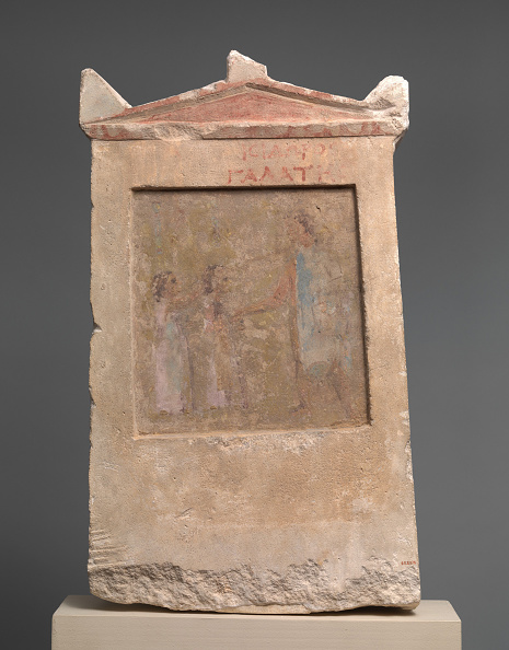 Block Shape「Painted Limestone Funerary Slab With A Soldier And Two Girls」:写真・画像(2)[壁紙.com]